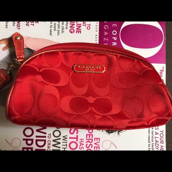 Coach Handbags - Small Coach makeup bag